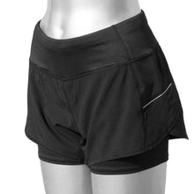 Load image into Gallery viewer, ruseen reflective running shorts women's black
