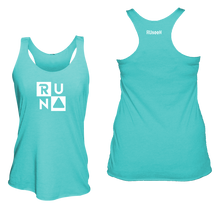 Load image into Gallery viewer, ruseen running Women's performance running tank run squared bright blue