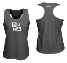 Load image into Gallery viewer, ruseen running Women's performance running tank run squared black