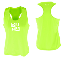 Load image into Gallery viewer, ruseen running Women's performance running tank run squared lime yellow
