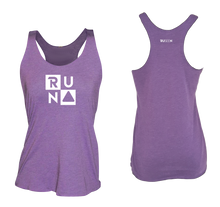 Load image into Gallery viewer, ruseen running Women's performance running tank run squared purple