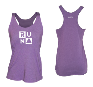 ruseen running Women's performance running tank run squared purple