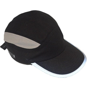 mesh performance reflective running hat black