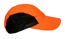 Load image into Gallery viewer, mesh performance reflective running hat orange dots
