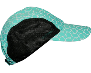 mesh performance reflective running hat teal