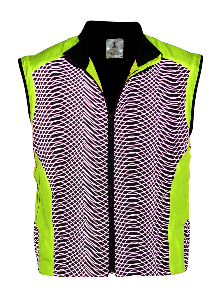 ruseen high visibility running vest lime yellow