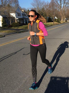 ruseen reflective tech vest running woman