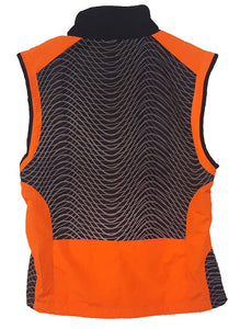 ruseen reflective tech vest rear orange
