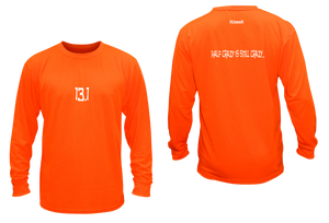 ruseen 13.1 half crazy performance long sleeve orange
