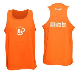 moisture wicking singlet with beer logo