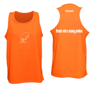 ruseen reflective running tank drinker with a running problem orange