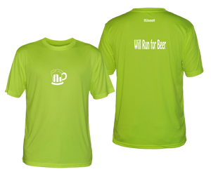 will run for beer reflective moisture wicking tee lime