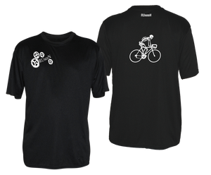 ruseen running bike skeleton mens performance tee black
