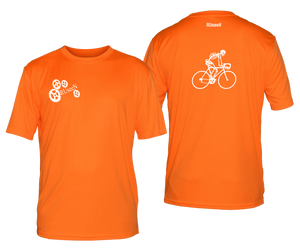 ruseen running bike skeleton mens performance tee orange