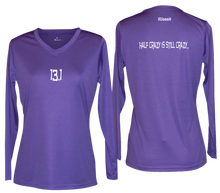 Load image into Gallery viewer, ruseen 13.1 half crazy women's long sleeve purple