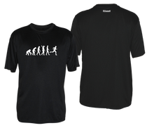 Load image into Gallery viewer, ruseen running evolution of a runner mens performance tee black