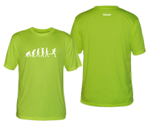 Load image into Gallery viewer, ruseen running evolution of a runner mens performance tee green
