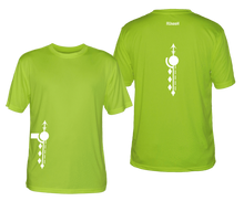 Load image into Gallery viewer, ruseen running mens paths reflective moisture wicking tee lime