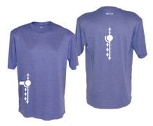 Load image into Gallery viewer, ruseen running mens paths reflective moisture wicking tee royal heather