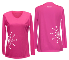 Load image into Gallery viewer, ruseen running women's reflection long sleeve shirt pink