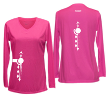 Load image into Gallery viewer, women's long sleeve reflective shirt paths pink