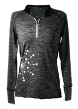Load image into Gallery viewer, ruseen running long sleeve quarter zip directions close up