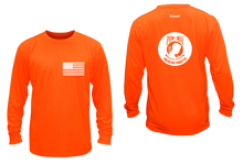 Load image into Gallery viewer, ruseen running pow-mia mens long sleeve american tee orange