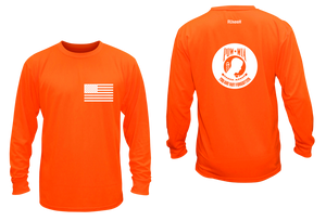 ruseen running pow-mia mens long sleeve american tee orange