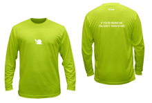 Load image into Gallery viewer, ruseen running men's moisture wicking long sleeve shirt didn't train lime yellow