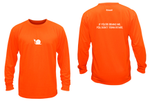 Load image into Gallery viewer, ruseen running men's moisture wicking long sleeve shirt didn't train orange