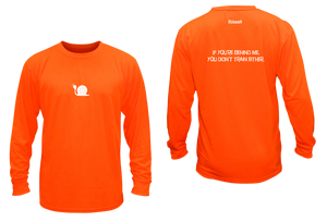 ruseen running men's moisture wicking long sleeve shirt didn't train orange