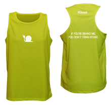 Load image into Gallery viewer, ruseen running men's tank reflective didn't train lime yellow
