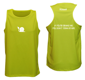 ruseen running men's tank reflective didn't train lime yellow