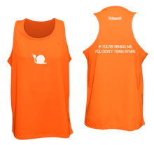 Load image into Gallery viewer, ruseen running men's tank reflective didn't train orange