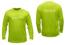 Load image into Gallery viewer, ruseen running unique mens long sleeve reflective tee good idea lime yellow