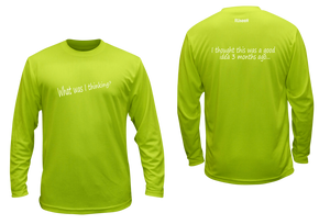 ruseen running unique mens long sleeve reflective tee good idea lime yellow