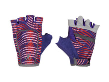 Load image into Gallery viewer, runlites led running light half glove red and purple wave