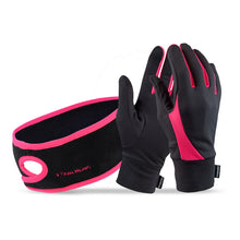 Load image into Gallery viewer, trailheads Pony Headband and Elements Gloves Set Women's black and coral