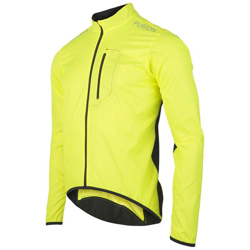 fusion s1 cycling jacket unisex front yellow