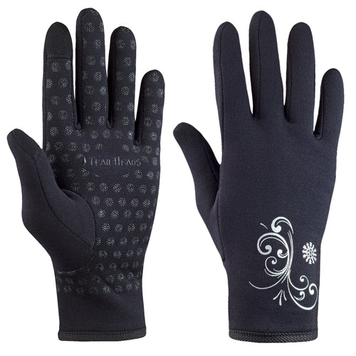 trailheads power stretch running glove black with white pattern