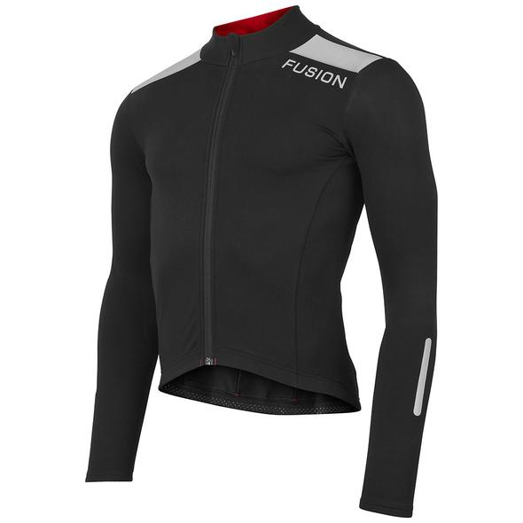 fusion s3 cycle jacket unisex black front