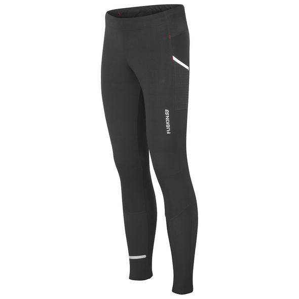 fusion s3 long tights unisex running black front