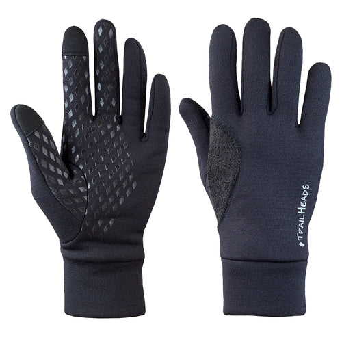 trailheads power stretch gloves men's black