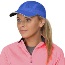 Load image into Gallery viewer, trailheads race day running cap women's cool blue