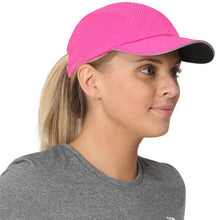 Load image into Gallery viewer, trailheads race day running cap women's pink