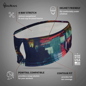 trailheads print pony women's running headband feature list