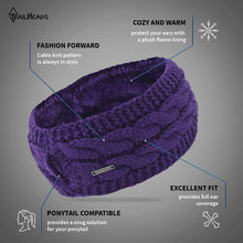 Load image into Gallery viewer, Cable Knit Pony Headband Women's