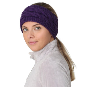 Cable Knit Pony Headband Women's