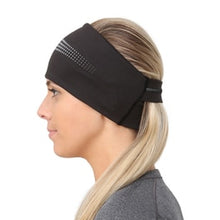 Load image into Gallery viewer, TRAILHEADS ADRENALINE SERIES WOMEN'S PERFORMANCE PONYTAIL HEADBAND - BLACK / REFLECTIVE