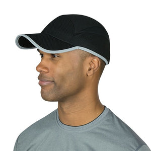 TRAILHEADS race day running cap men's black and silver